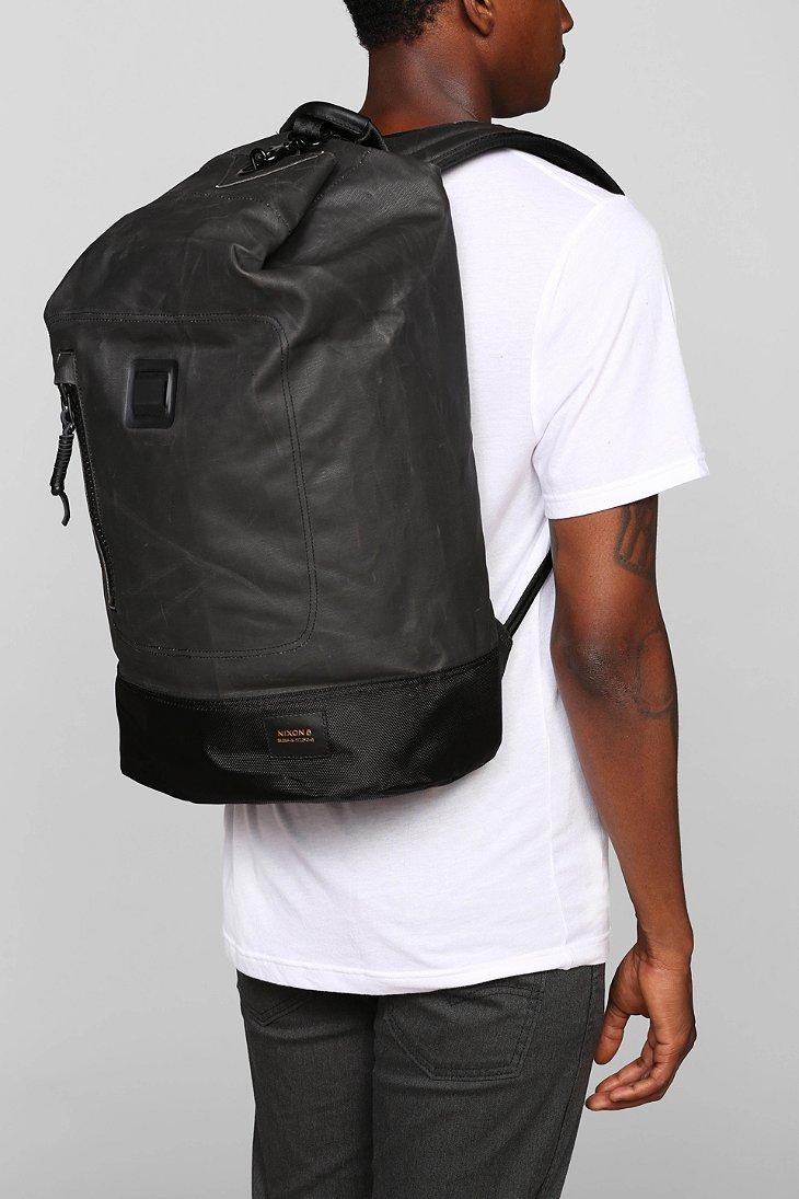 Lyst Nixon Origami Backpack In Black For Men