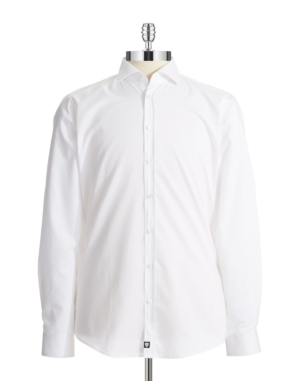 strellson jamie slim fit sportshirt in white for men lyst. Black Bedroom Furniture Sets. Home Design Ideas