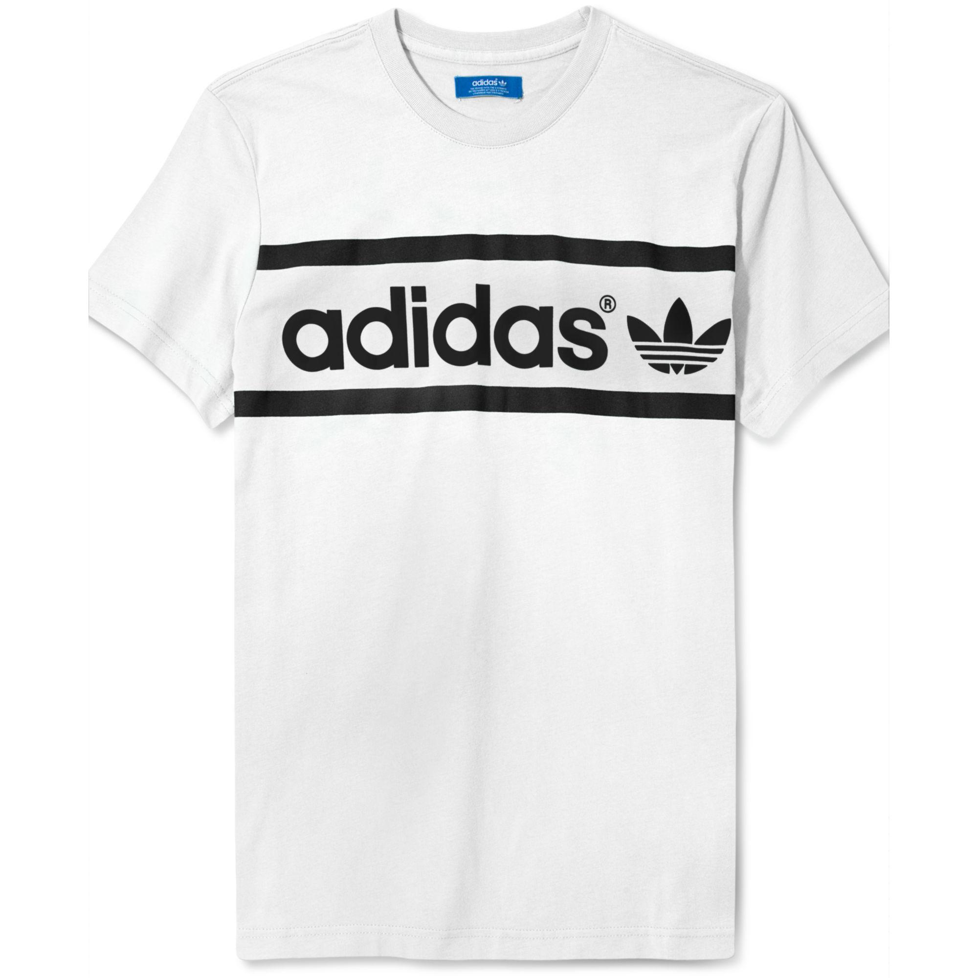 f714c33bcce9 Lyst - adidas Originals Heritage Logo T Shirt in Blue for Men