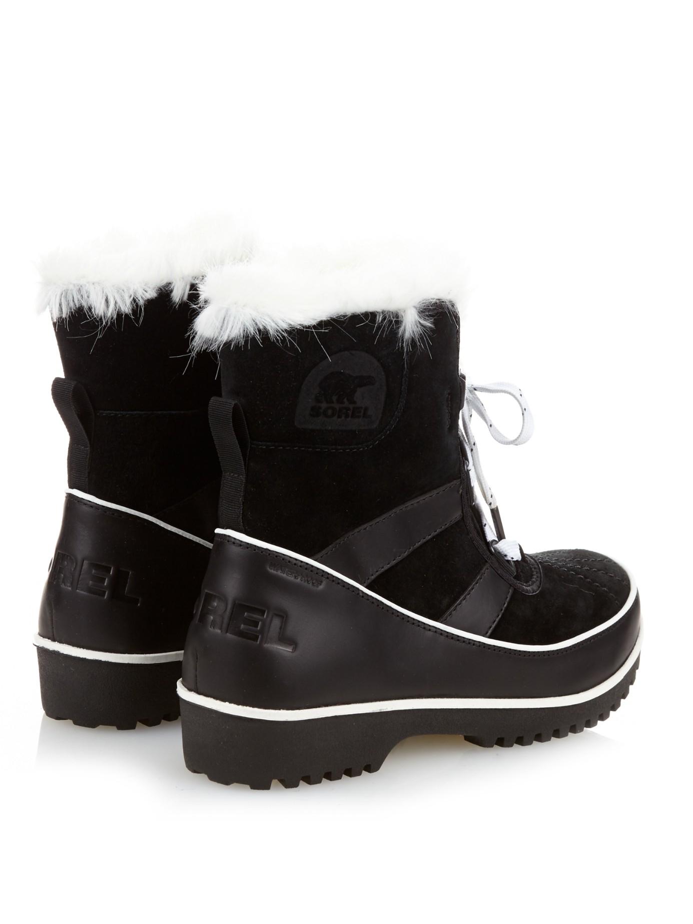 sorel tivoli� ii suede ankle boots in black lyst