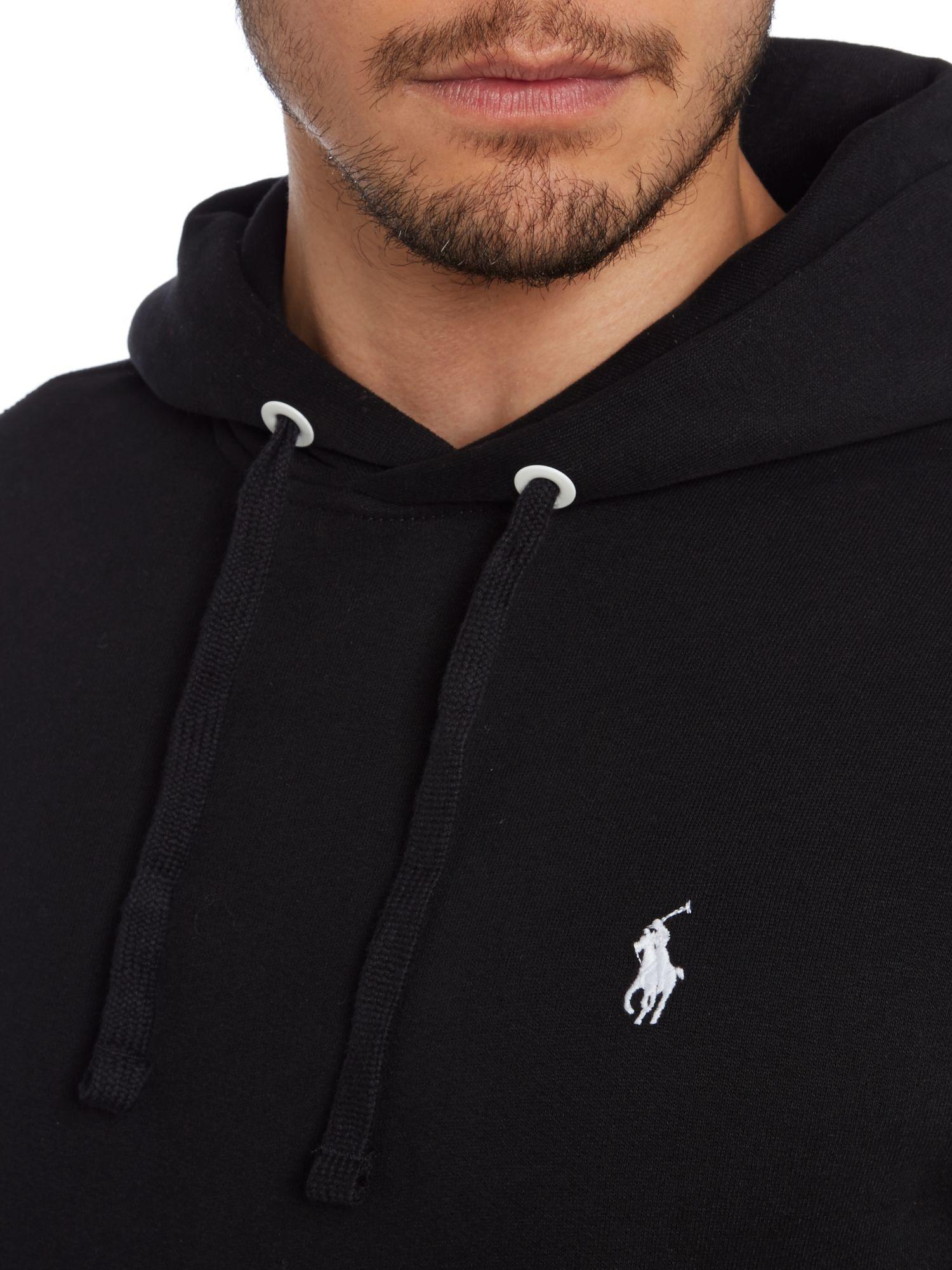 Polo Ralph Lauren Magic Fleece Hooded Sweatshirt in Black ...
