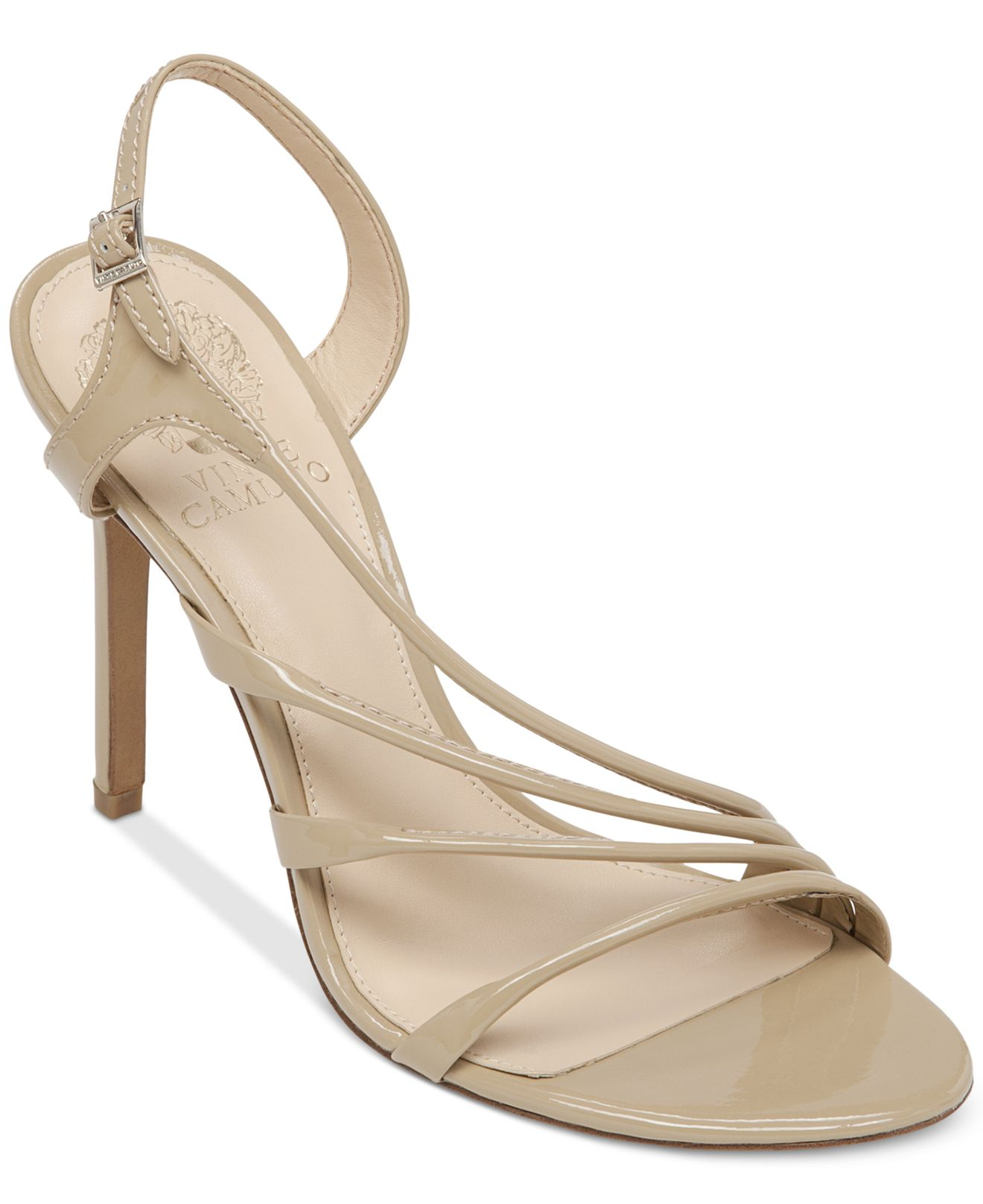 Lyst - Vince camuto Tiernan Asymmetrical Evening Sandals in Natural