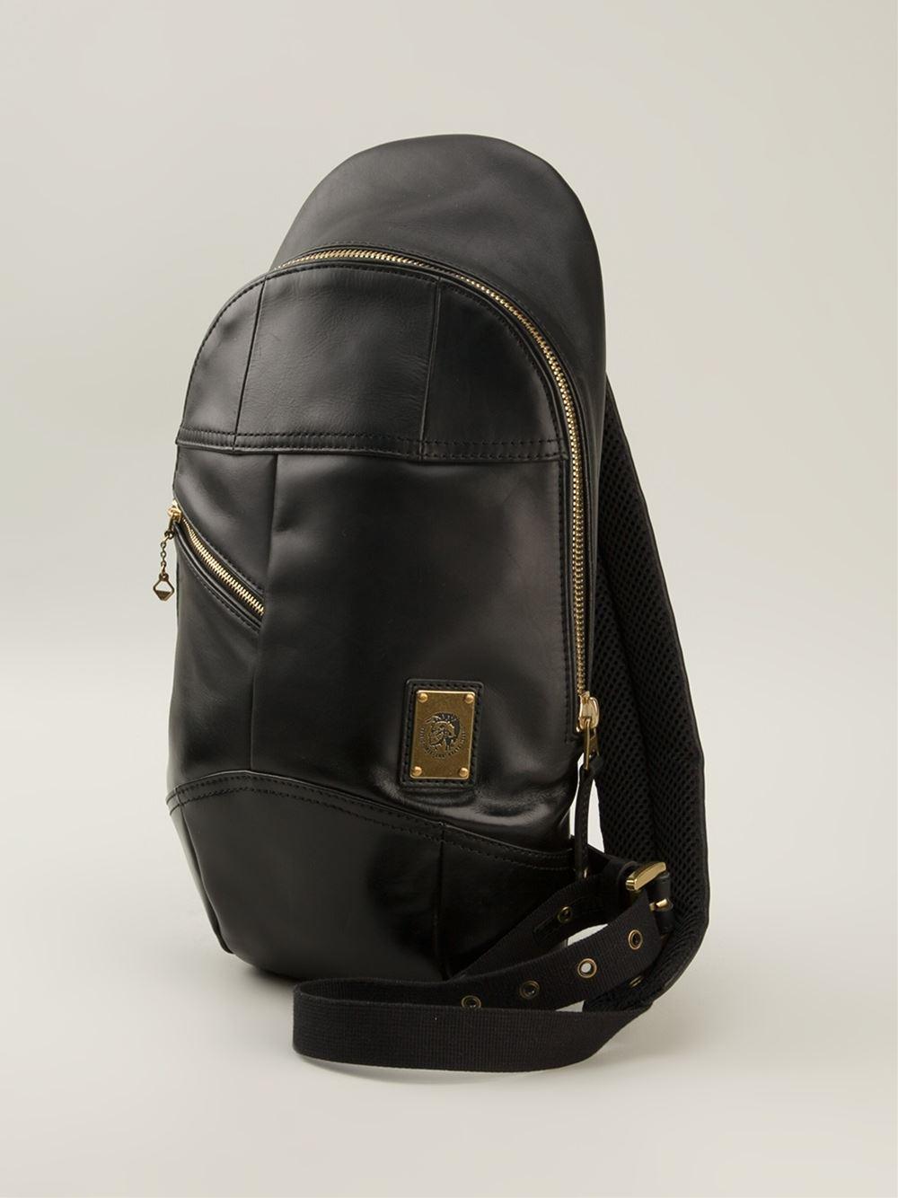 5f362343737f DIESEL  The Brave One  Shoulder Bag in Black for Men - Lyst