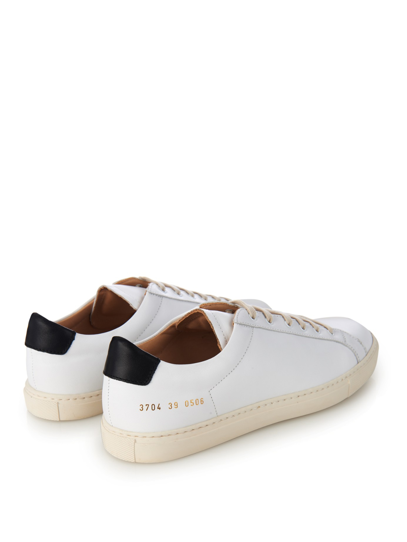 common projects achilles retro leather low top sneakers in white lyst. Black Bedroom Furniture Sets. Home Design Ideas