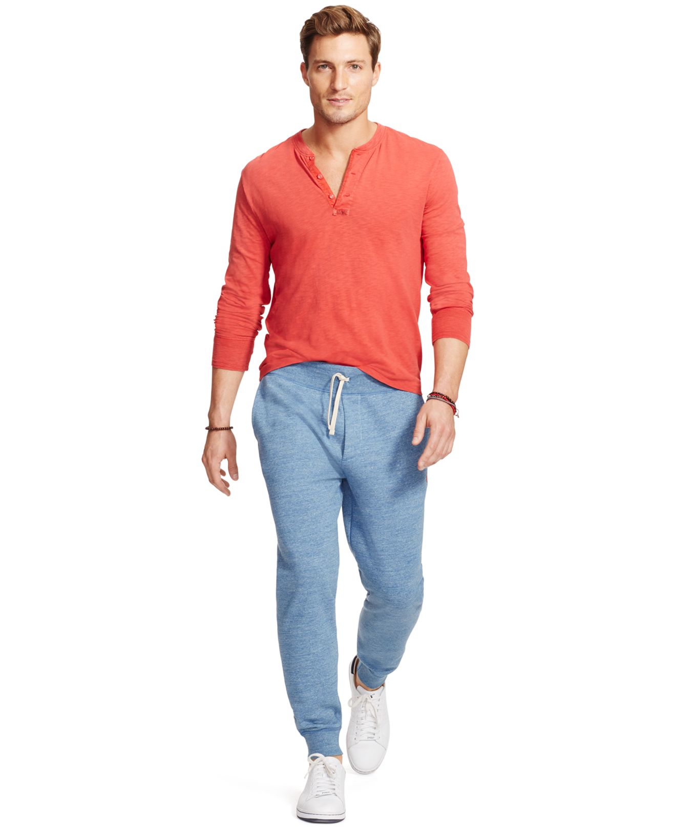 Polo ralph lauren Men's Fleece Jogger Pants in Blue for Men | Lyst