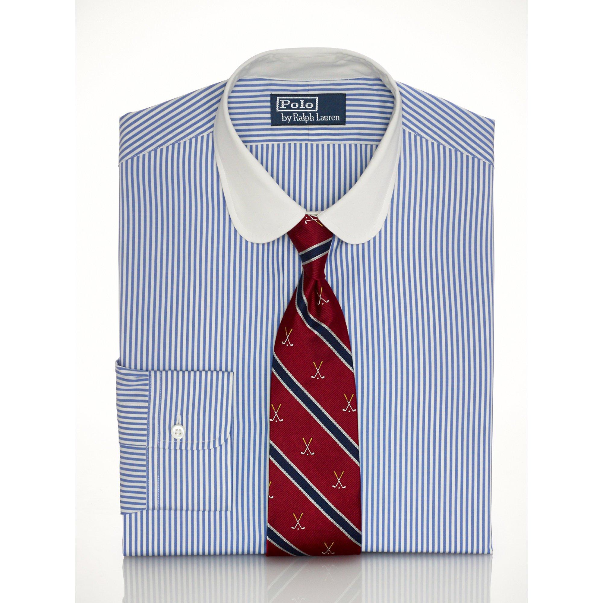 Lyst - Polo Ralph Lauren Slim Club-collar Dress Shirt In Blue For Men