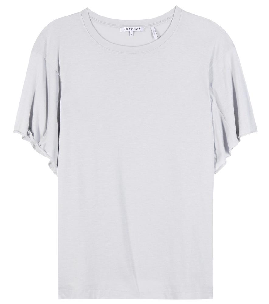 Helmut lang cotton blend t shirt in blue lyst for Helmut lang t shirt
