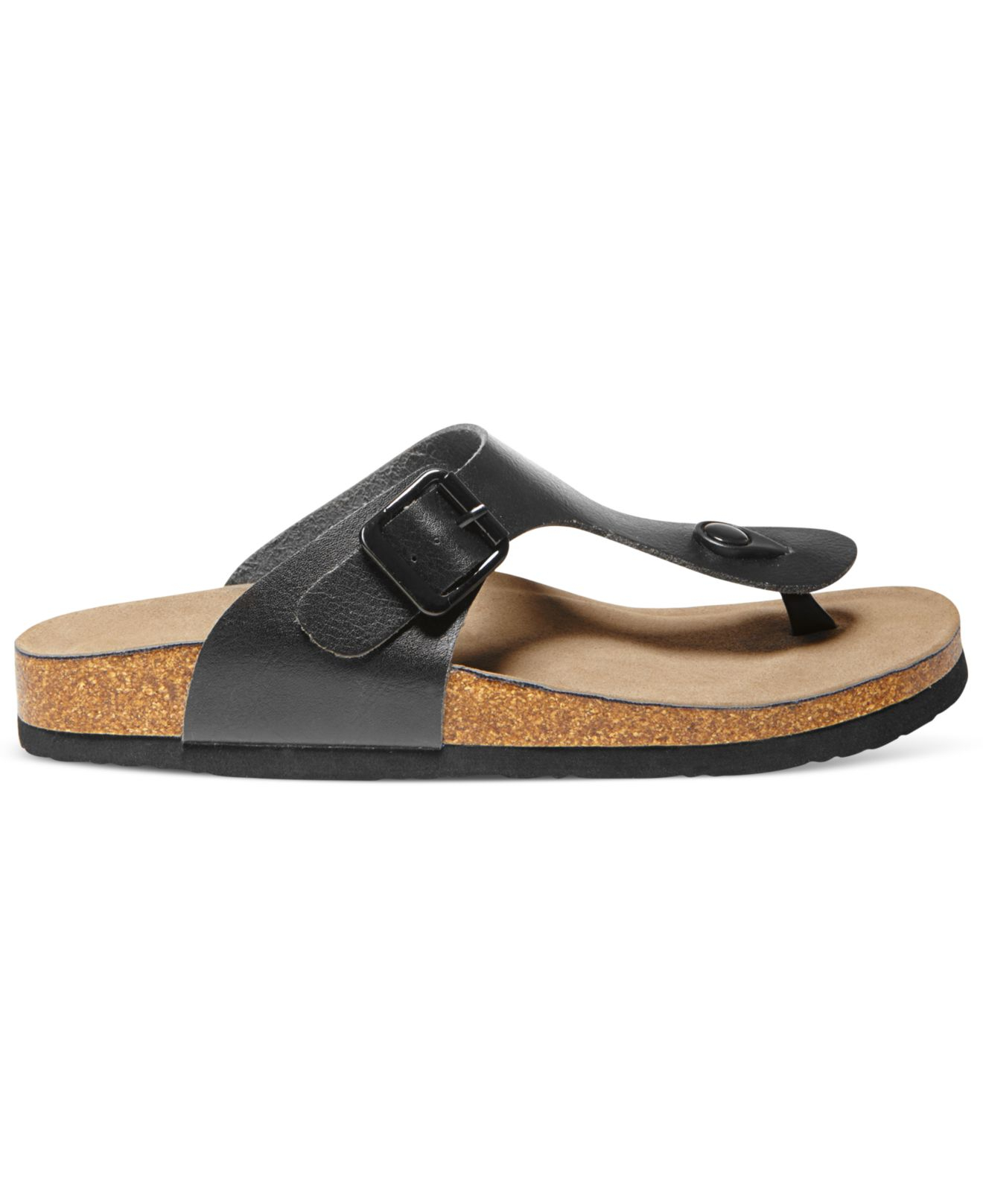 720e9f989fa54 Lyst - Madden Girl Boise Footbed Thong Sandals in Black