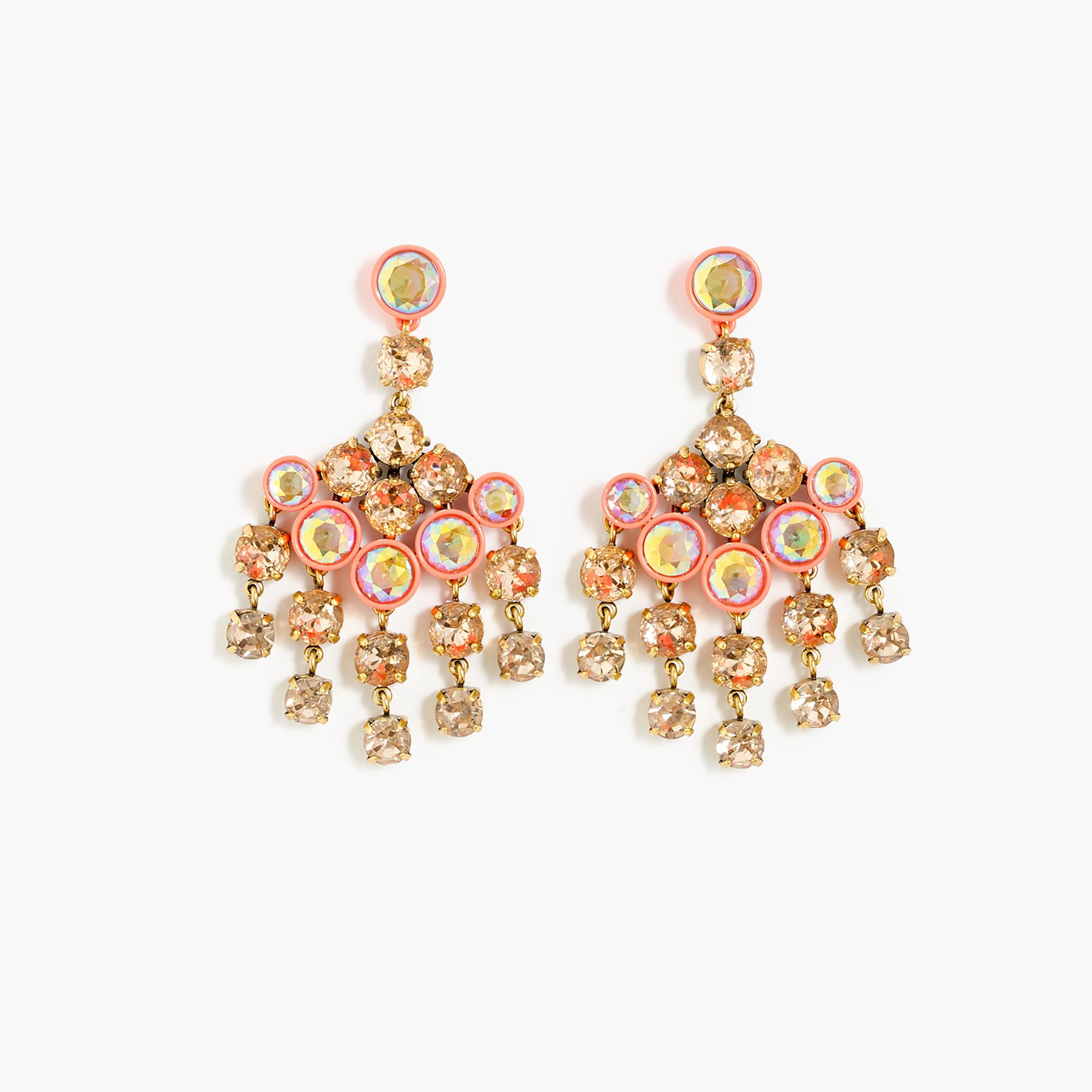 Lyst jew crystal chandelier earrings in metallic gallery arubaitofo Choice Image