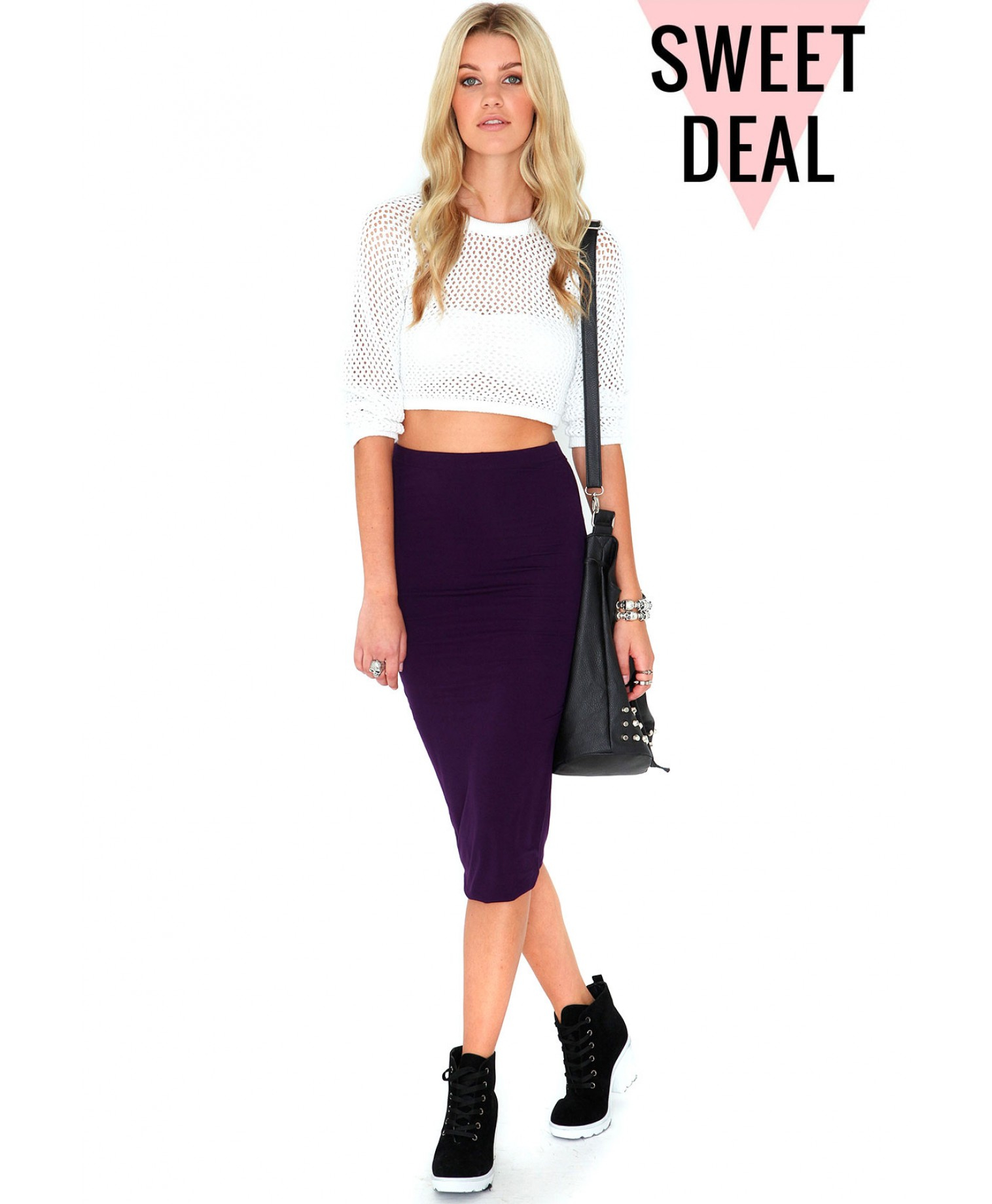 Missguided Madeline Value Double Layer Midi Skirt In Plum in ...