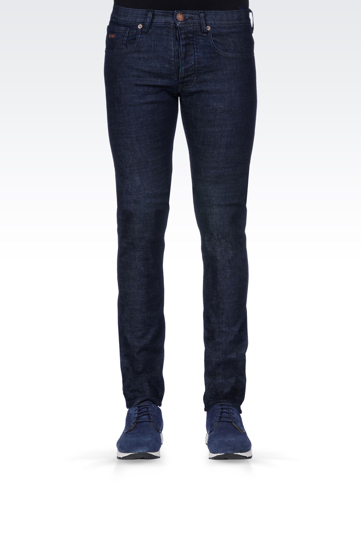 5f7b54a82e920 Lyst - Emporio Armani Slim Fit Dark Wash Jeans in Blue for Men