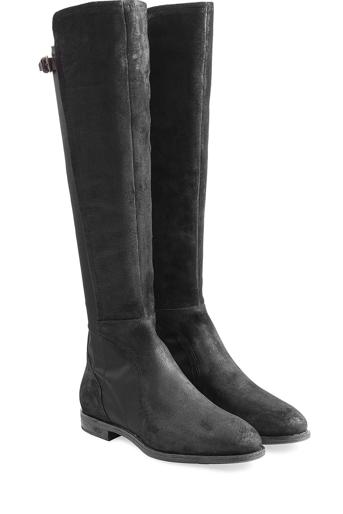 ugg danae suede knee boots black in black lyst