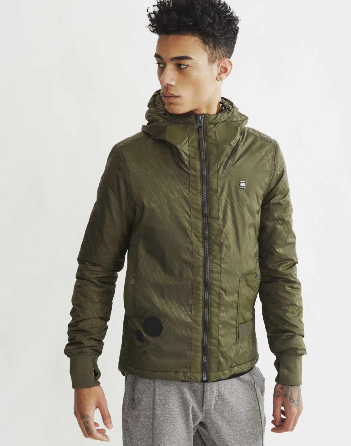 G Star Raw Submarine Parka Green In Green For Men Lyst