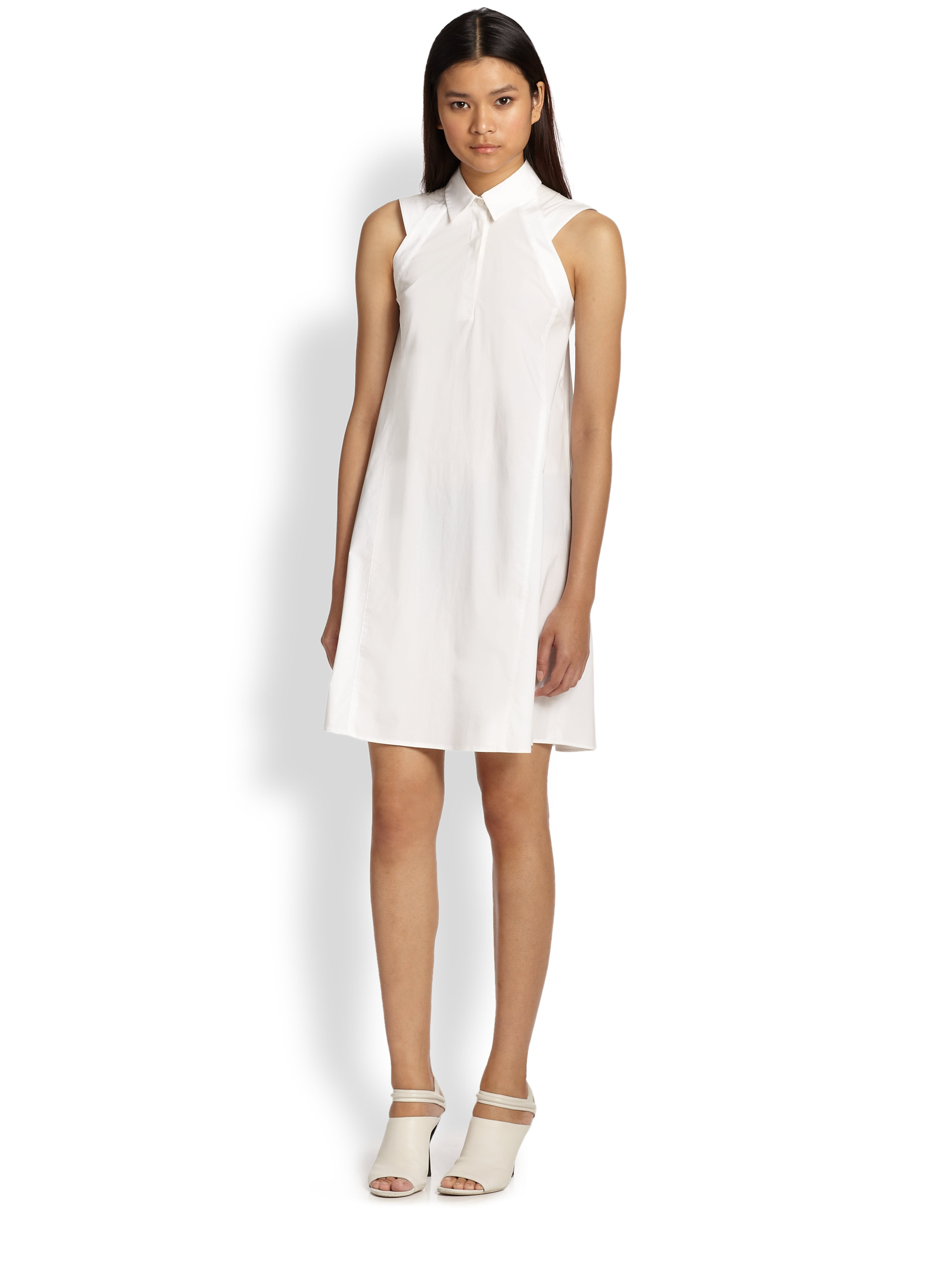 d24902884d9692 Lyst - 3.1 Phillip Lim Trapeze Shirt Dress in White