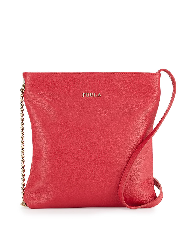 ed05ffbd49 Lyst - Furla Julia Small Leather Crossbody Bag in Red