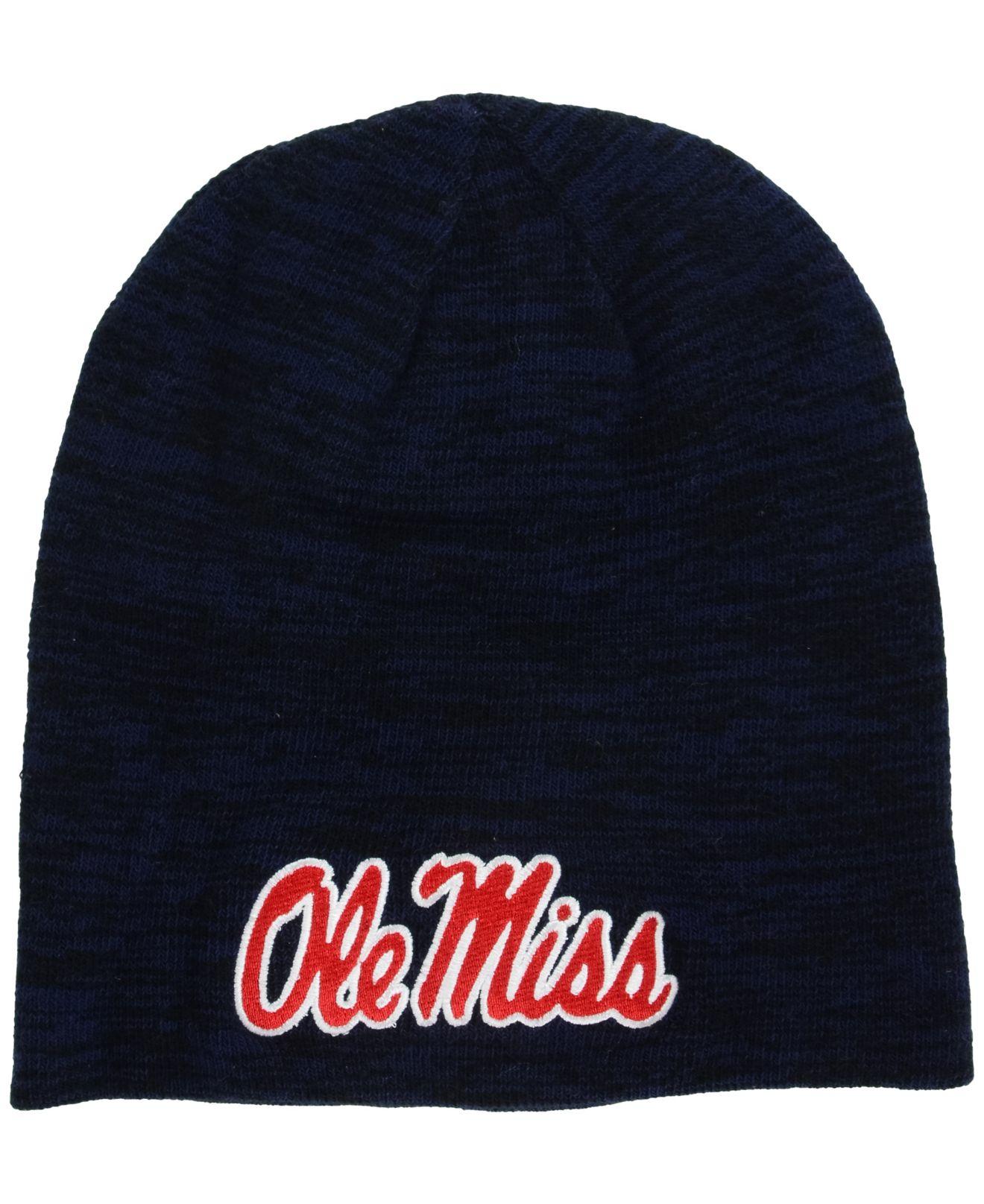 on sale 87566 c50dd Nike Mississippi Rebels Reversible Beanie Knit Hat in Blue for Men ...