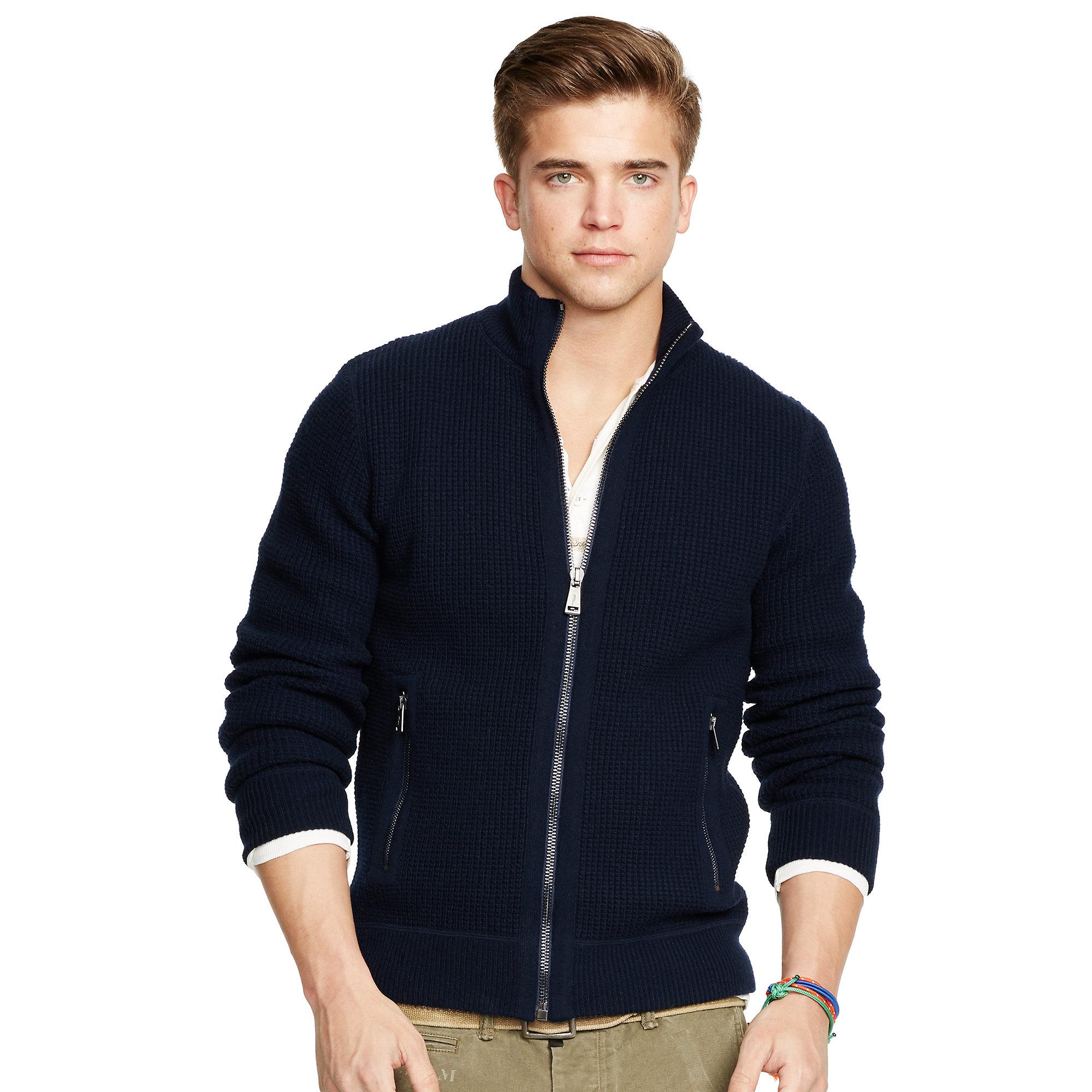 d314bd7960f Lyst - Polo Ralph Lauren Wool-blend Full-zip Sweater in .