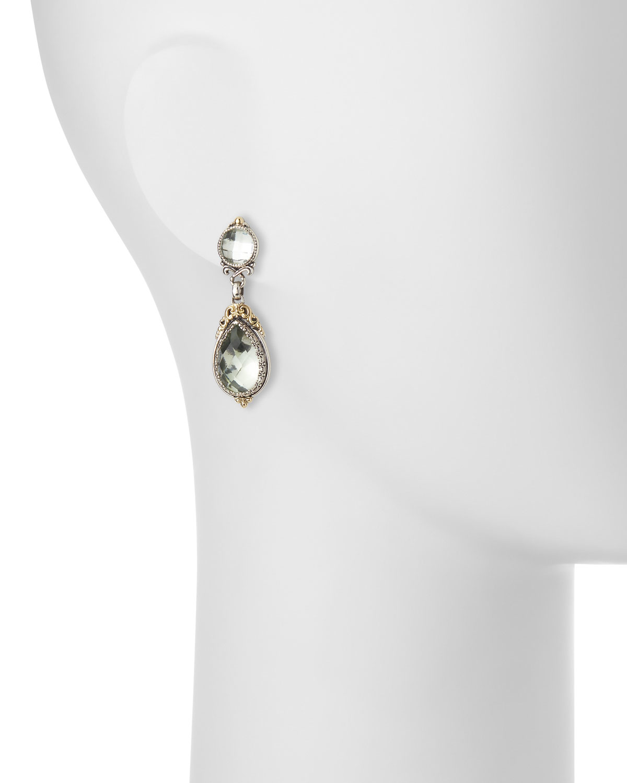 Konstantino Asteri Pave White Diamond Square Double-Drop Earrings 8G3pb