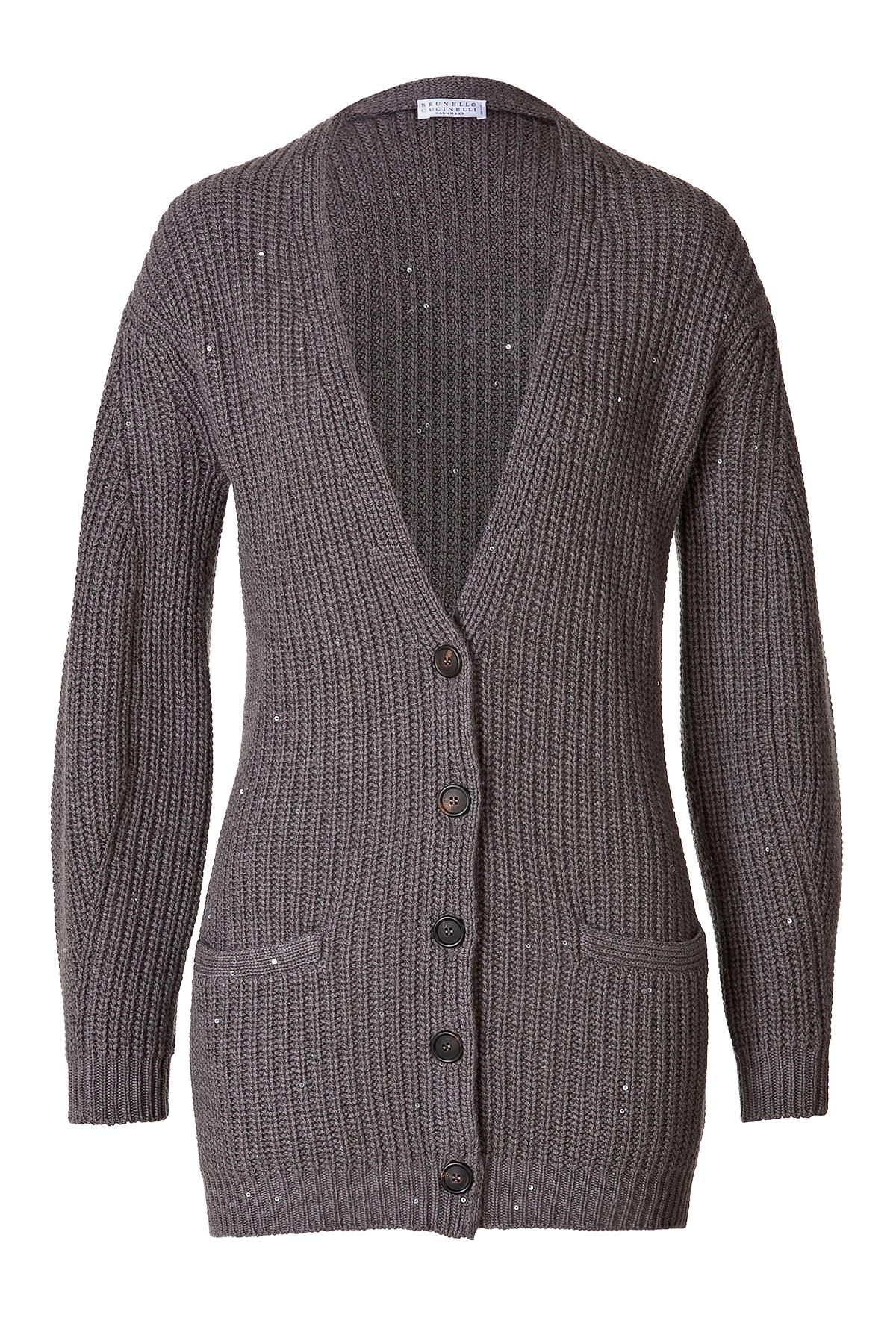 Brunello cucinelli Cashmere-silk Sequin Embellished Cardigan ...