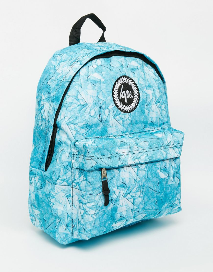 050a252f01f6 ... Lyst - Hype Backpack In Blue Leaf Print in Blue on sale 0d9f3 1b4a7  Hype  Hype Backpack in Contrast Cloud ...