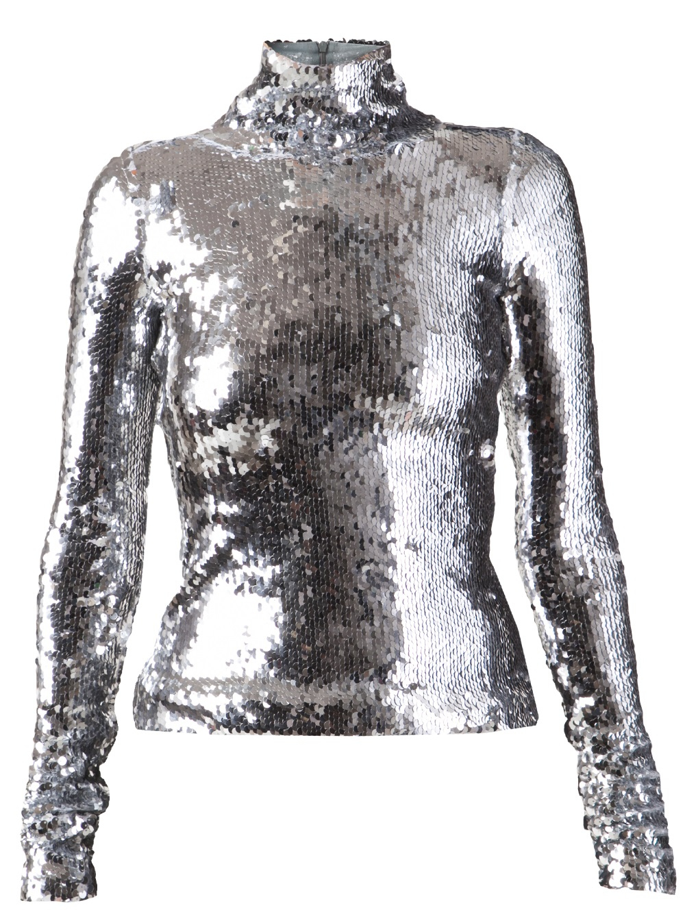 Silver Sequin Blouse