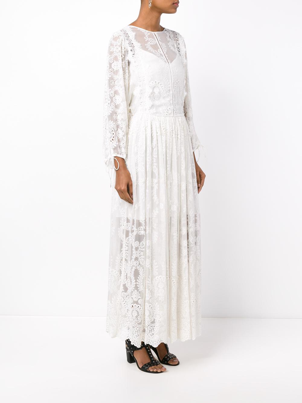 e514a870f350 Zimmermann Alchemy Silk Long Dress in White - Lyst