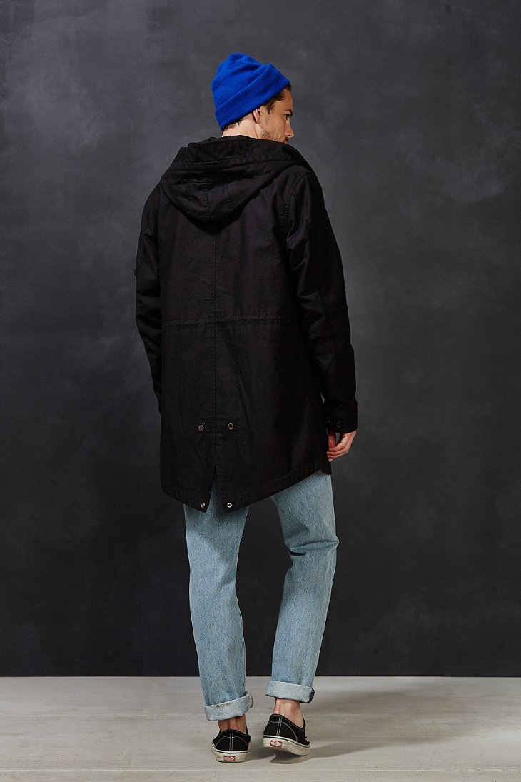 Alpha industries M-59 Classic Fishtail Jacket in Black for Men | Lyst