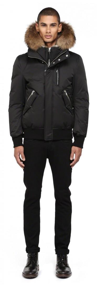 Lyst Mackage Dixon F4 Black Winter Down Bomber Jacket