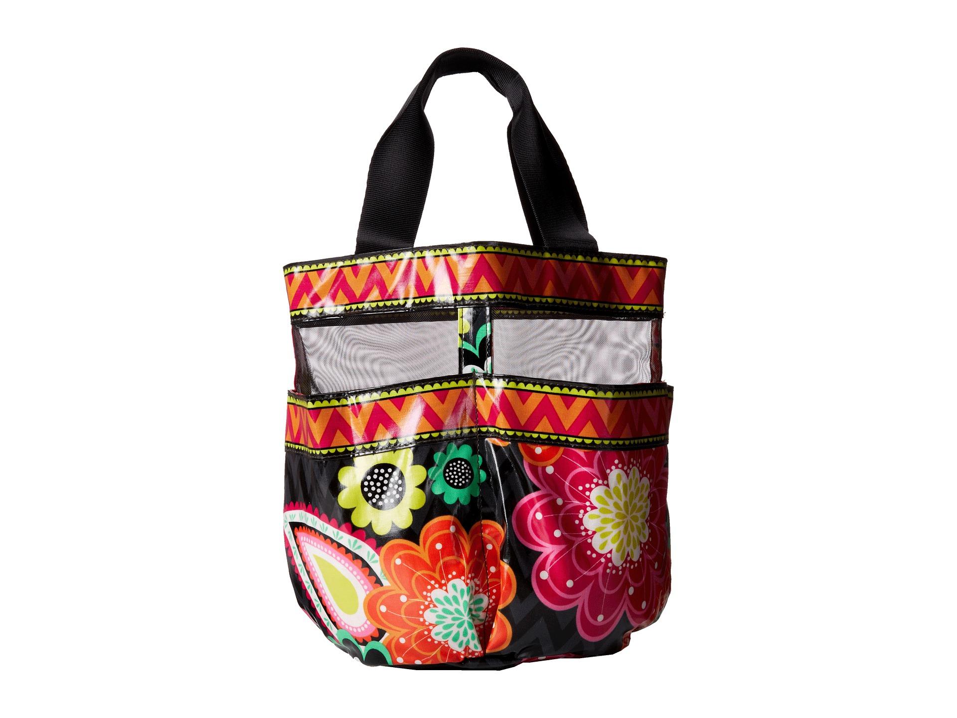 Vera bradley shower caddy in multicolor ziggy zinnia lyst for Vera bradley bathroom bag