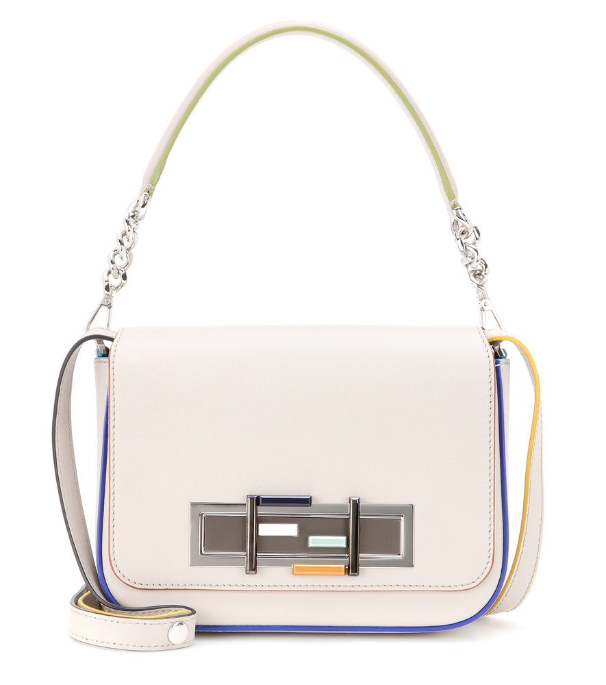 Fendi 3baguette Leather Shoulder Bag in White