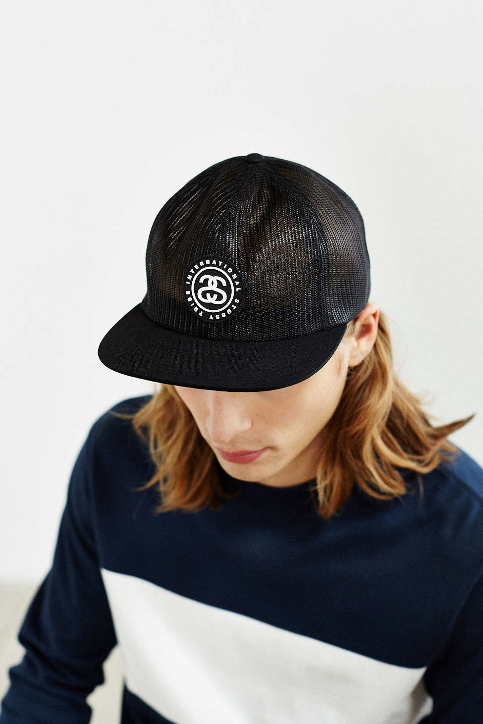 8018298d967 Lyst - Stussy International Mesh Snapback Hat in Black for Men
