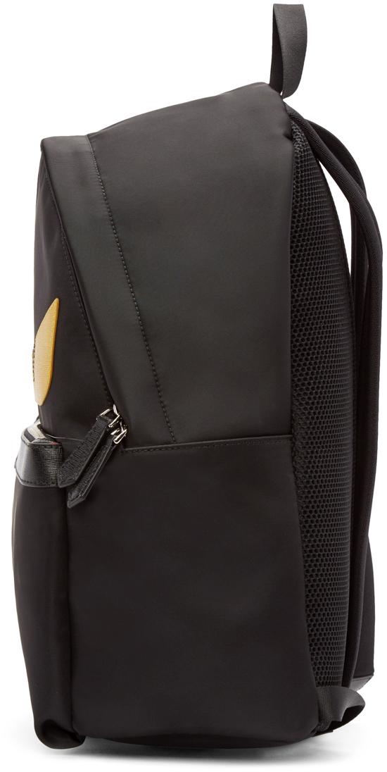 e641228aff23 Lyst - Fendi Black Nylon Monster Backpack in Black for Men