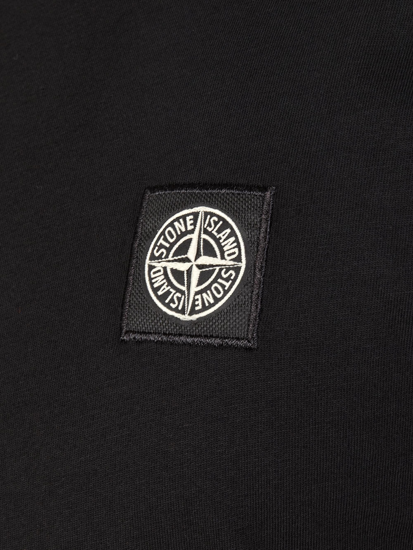 stone island patch logo hoodie garden house lazzerini. Black Bedroom Furniture Sets. Home Design Ideas