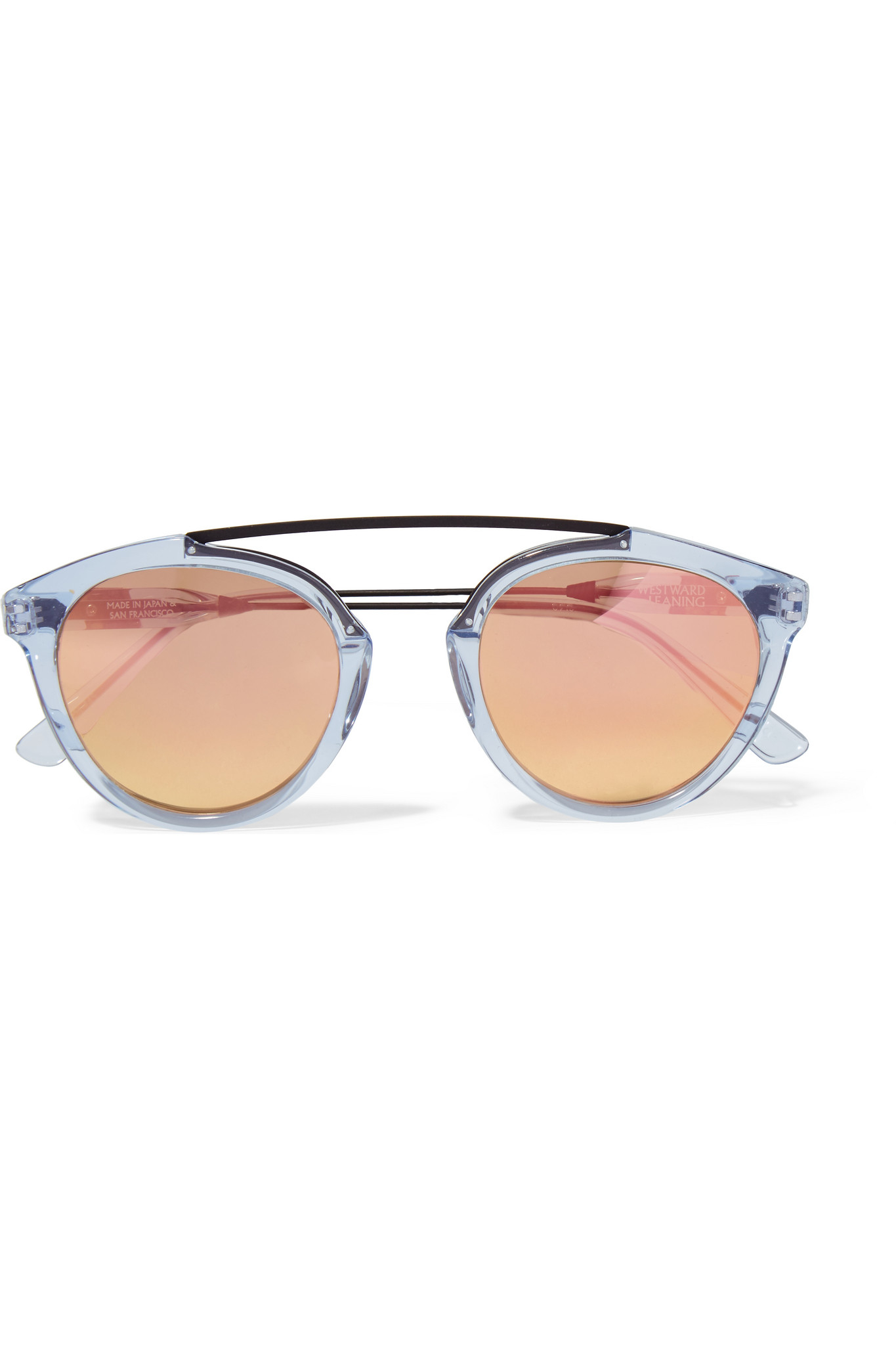 f4ff36075651 Westward Leaning Flower 14 Aviator-style Acetate And Metal Mirrored ...