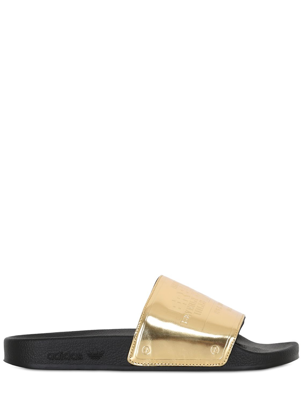 adidas jeremy scott gold slides