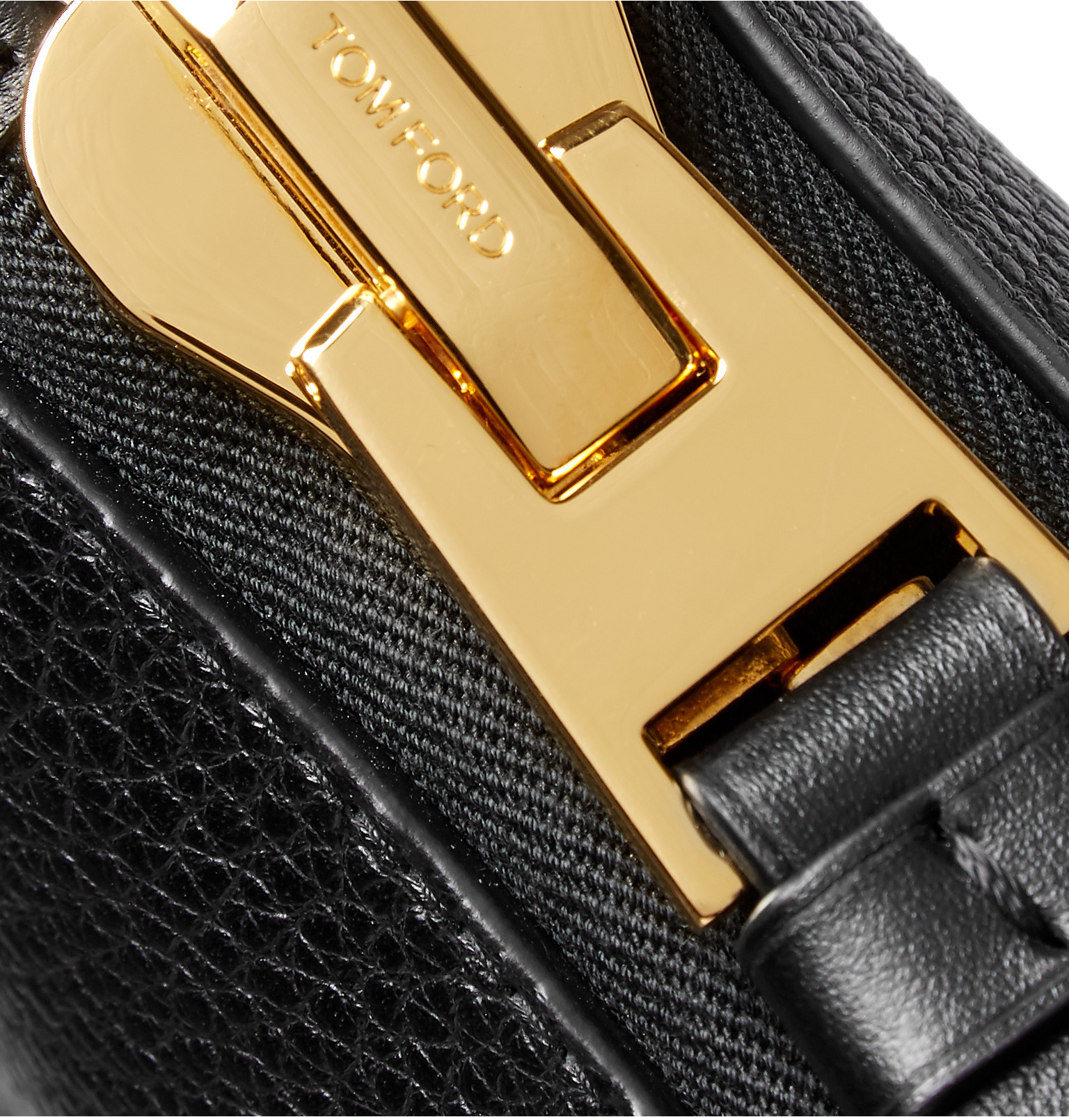 lyst tom ford full grain leather pouch in black for men. Black Bedroom Furniture Sets. Home Design Ideas