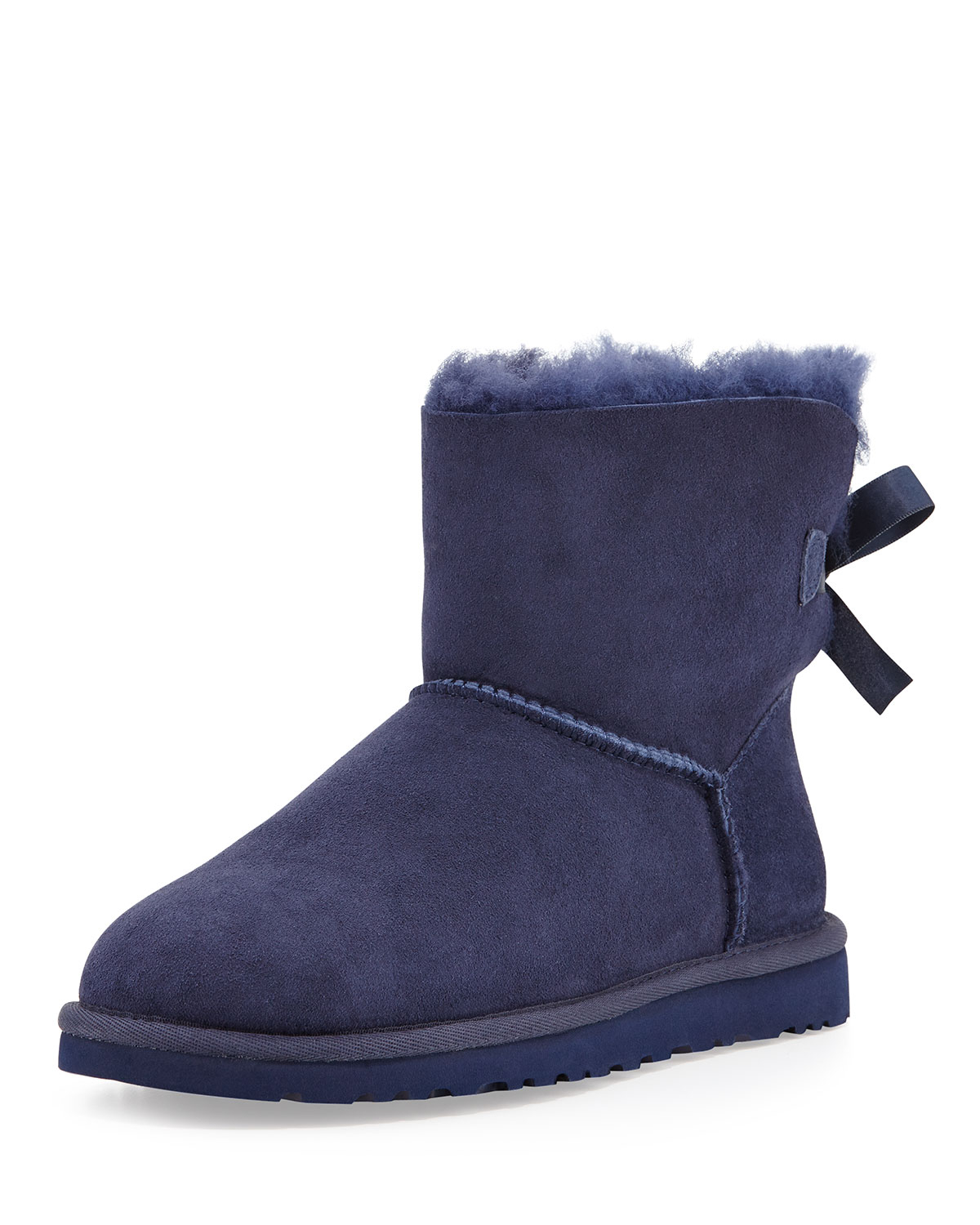 Lyst - Ugg Mini Bailey Bow-Back Boot in Blue ...