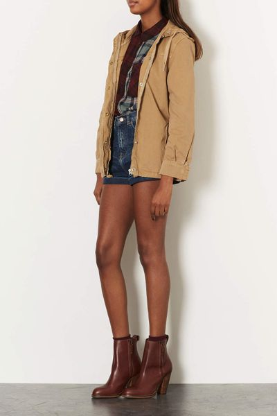 topshop western ankle boots in brown lyst