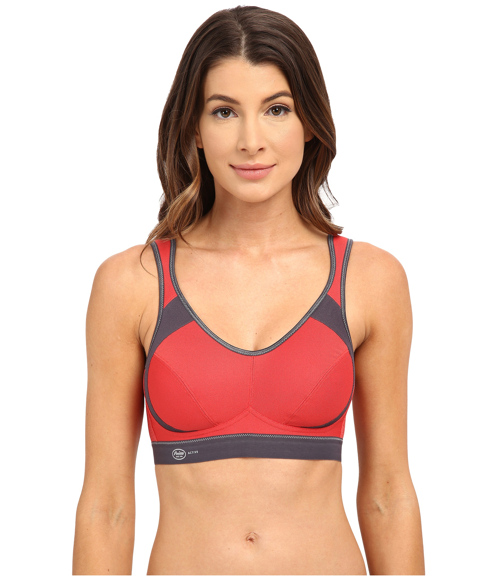 lyst - anita extreme control soft cup sports bra 5527 in red