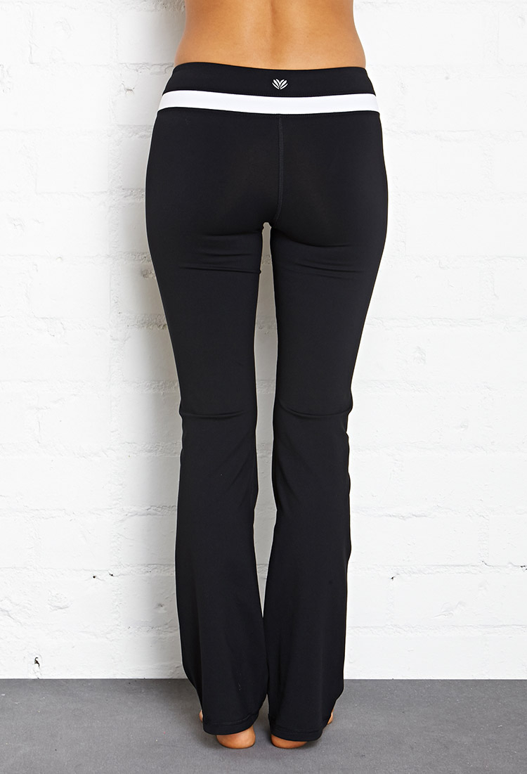 26cbacd219 Forever 21 Fit & Flare Yoga Pants in Black - Lyst