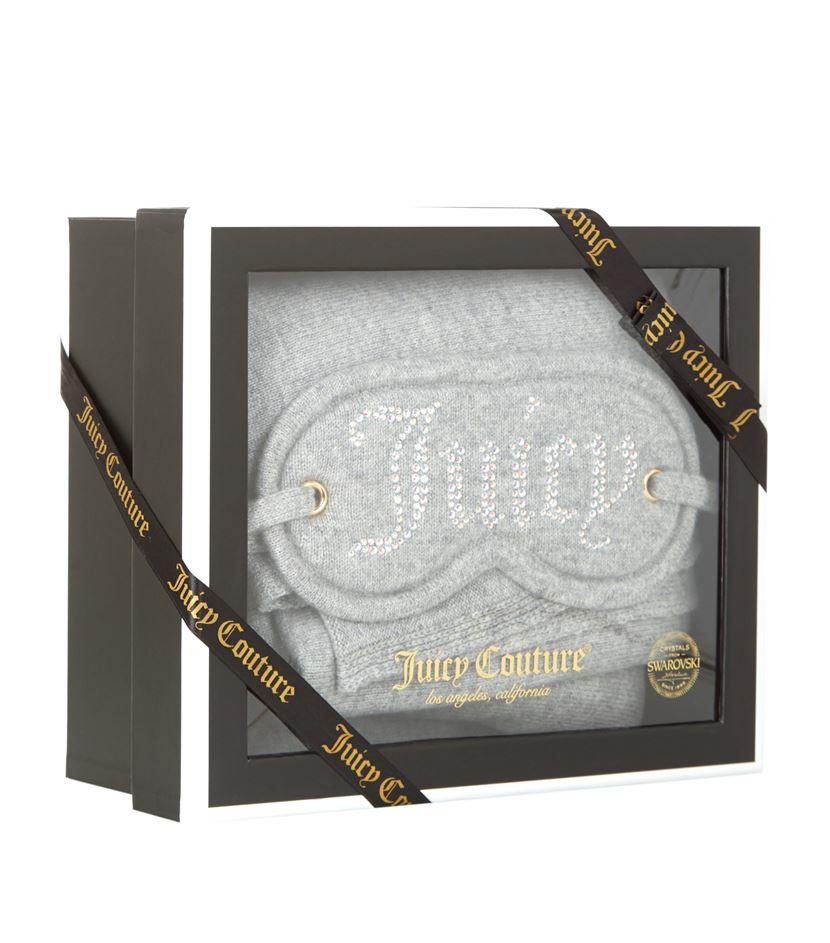 9e8fe51bf6 Juicy Couture Cashmere Eye Mask And Blanket Gift Set in Gray - Lyst