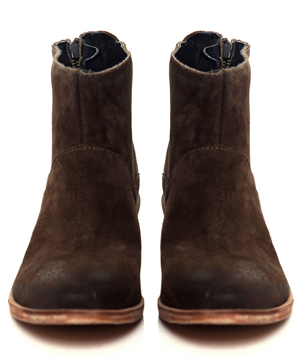h by hudson fop suede boots in brown lyst