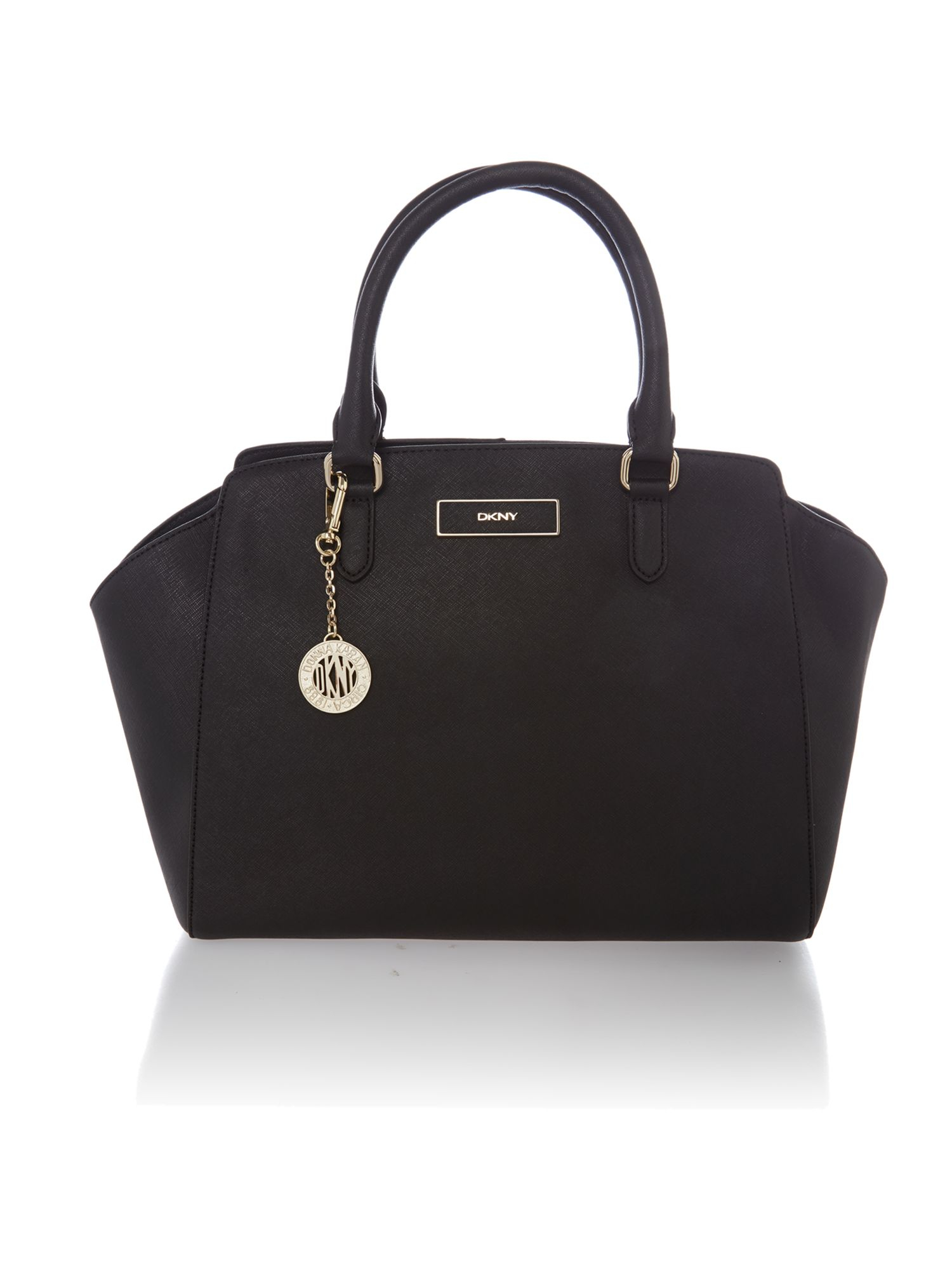 dkny saffiano black large tote bag in black lyst