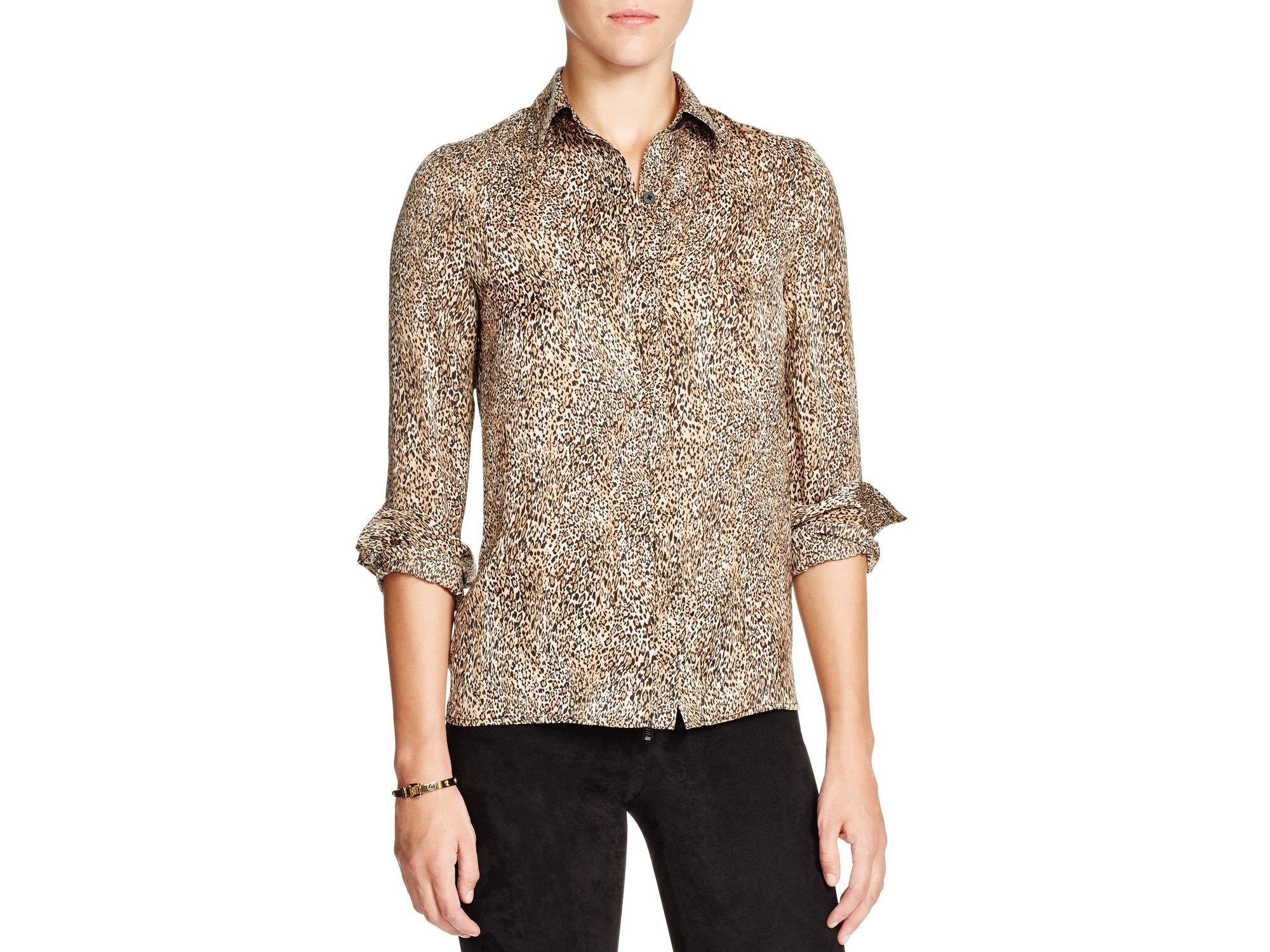 Alice And Olivia Leopard Blouse 82