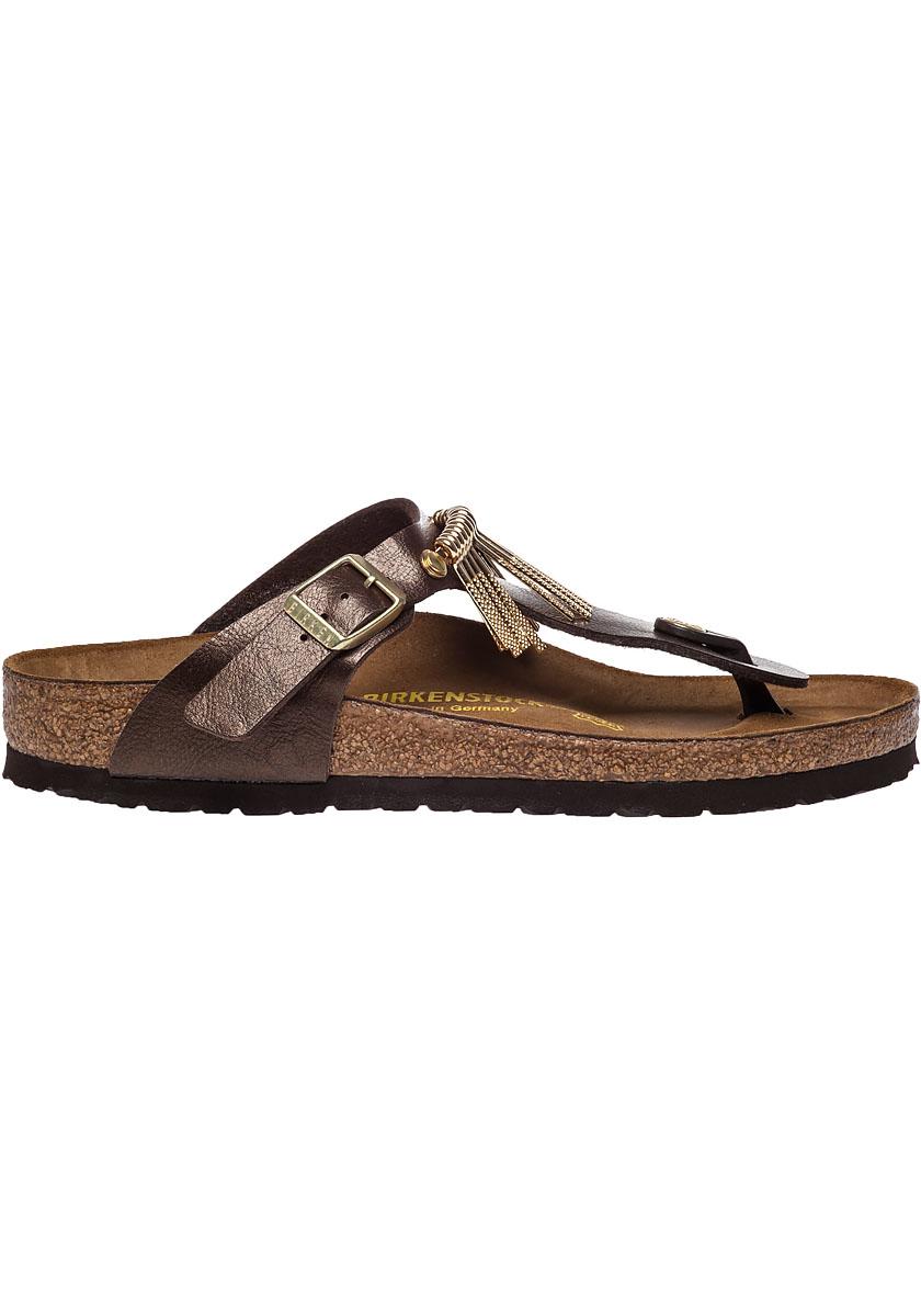 birkenstock gizeh fringed leather sandals in brown lyst. Black Bedroom Furniture Sets. Home Design Ideas
