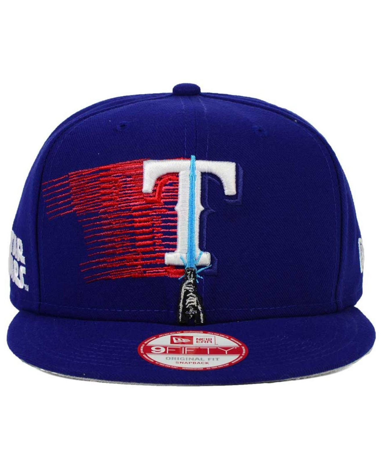 size 40 74788 bfa97 KTZ Texas Rangers Star Wars Logoswipe 9fifty Snapback Cap in Blue ...