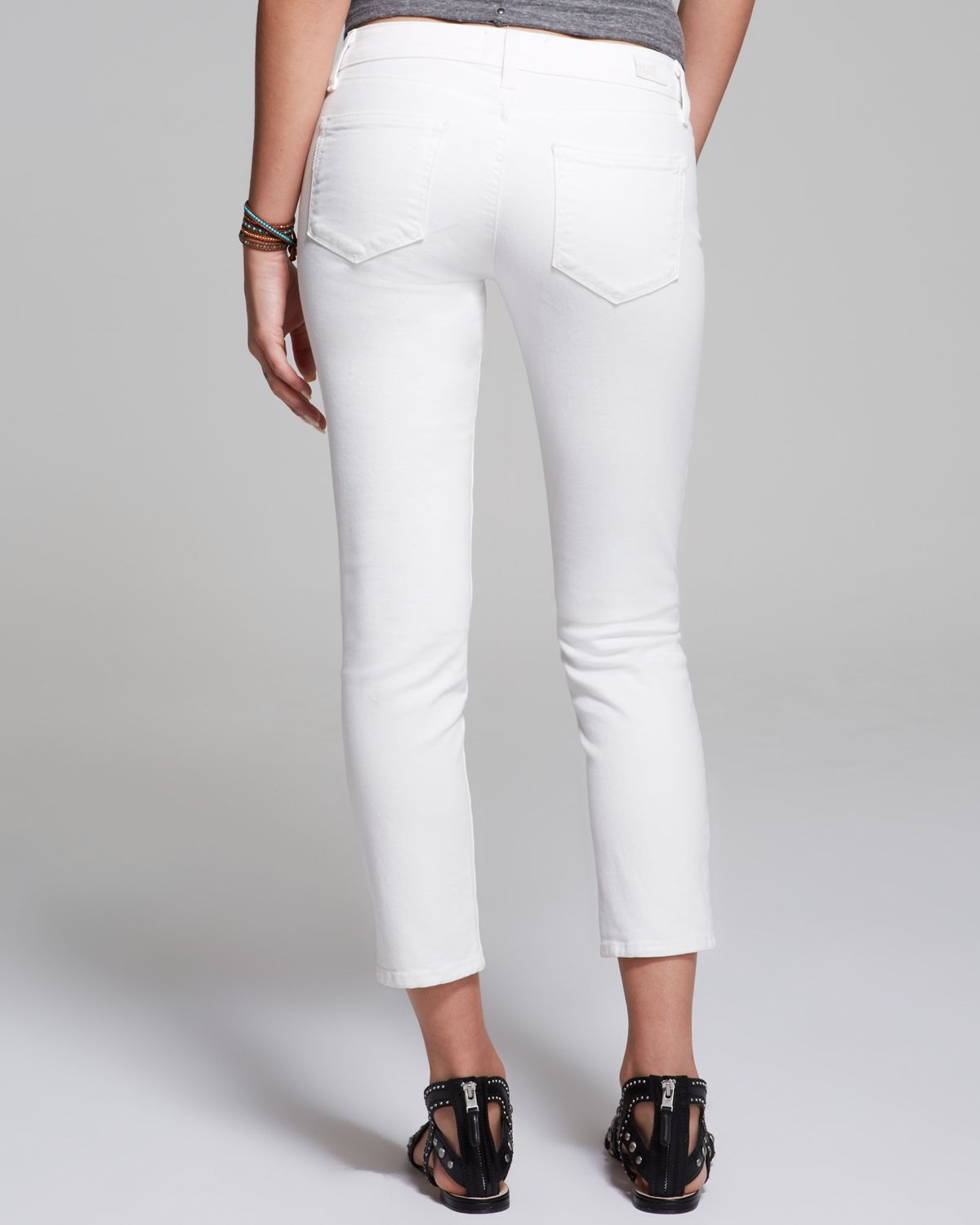 79915d1c094 PAIGE Jeans - Kylie Crop In Optic White in White - Lyst