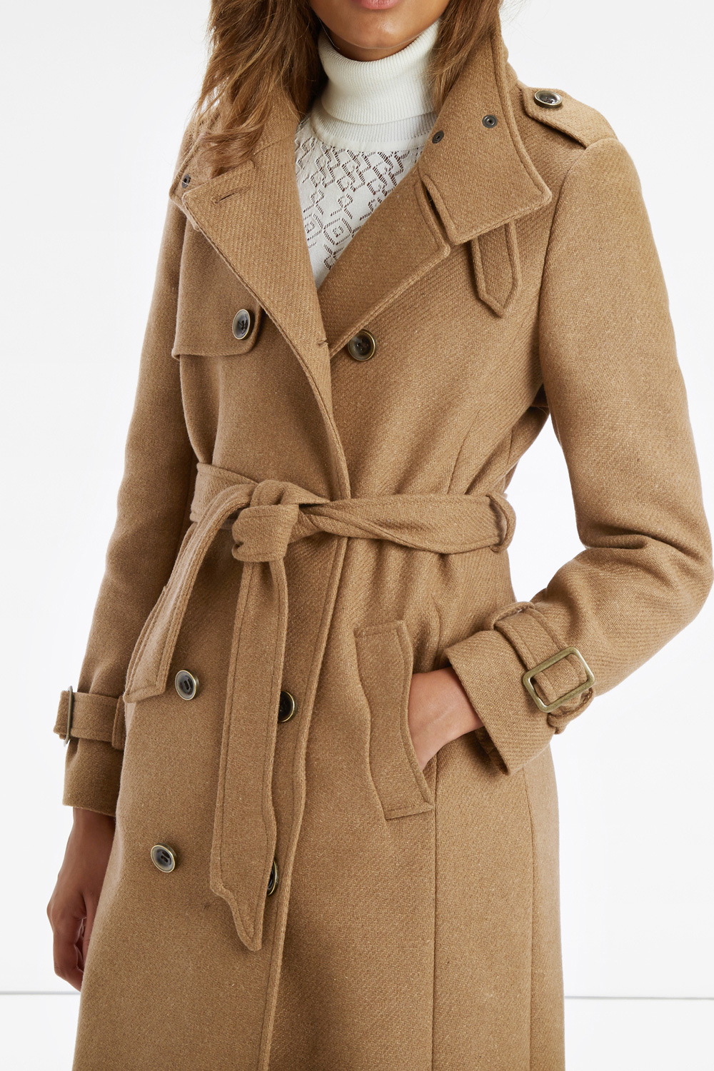 Oasis The Military Coat in Natural | Lyst