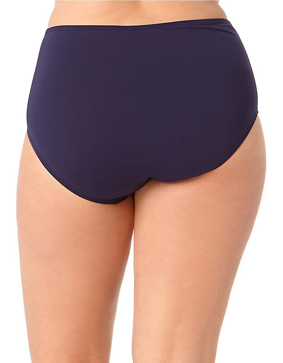617f7937f4118 Anne Cole High-Waisted Tummy Control Bikini Bottoms in Blue - Lyst