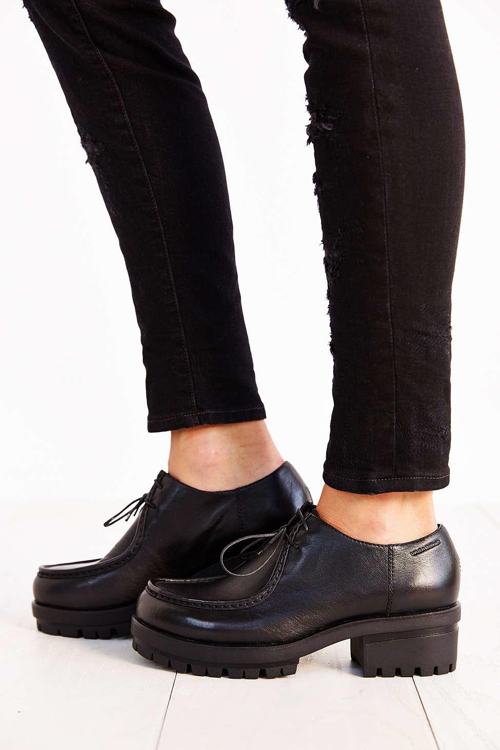 Lyst Vagabond Kayla Leather Oxford In Black